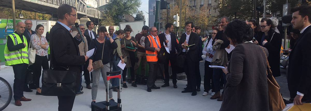 Photo inauguration sites pilotes projet life cool low noise asphalt