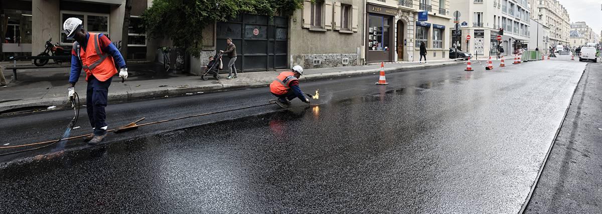 Rue Lecourbe revêtement PUMA par Eurovia
