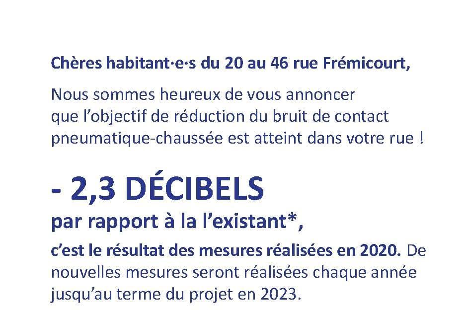 Read more about the article C'est demain! Point info rue Frémicourt